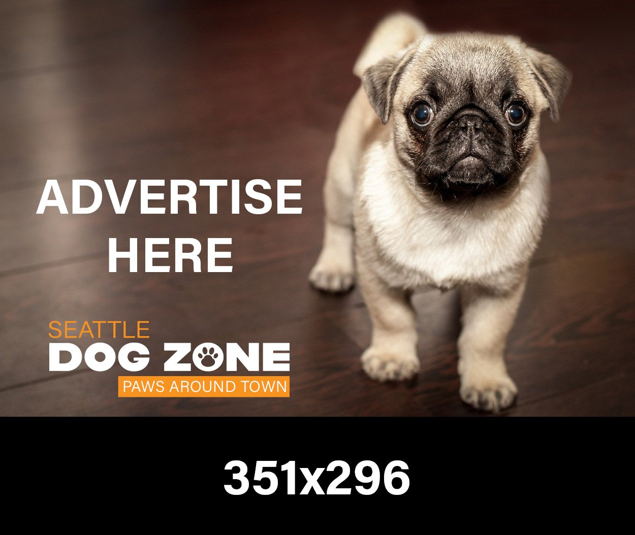 Sponsor Advertisement Banner | Seattle Dog Zone, WA